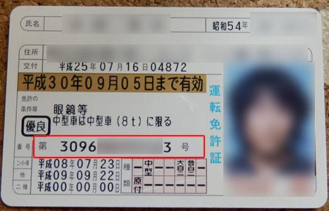 運転免許証の12桁の番号の意味は何?